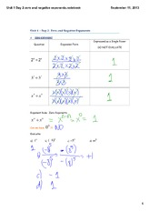 Unit 1 Day 2 zero and negative exponents