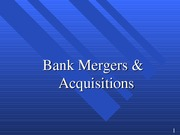 FIN 468 Mergers & Acquisitions