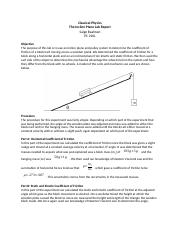 The Incline Plane Lab Report.docx