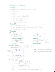 Notes on Alcohols