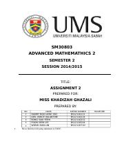 Advanced-Mathematics-II-Assignment-2-Compiled
