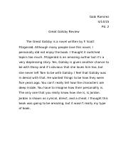 great gatsby review .docx