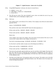 class notes Chapter 17 - Capital Structure - Limits to the Use of Debt