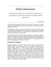 Verbal Communication (2)
