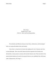 Csr essay