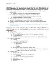 HY 318-001 Midterm Notes