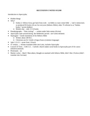 RECITATION 3 NOTES