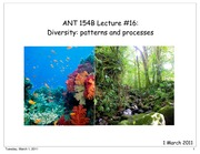 "ANT 154BNâ€""16 Diversity- Patterns and processes"