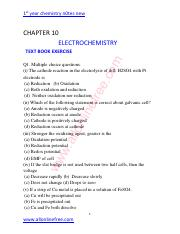10-CHAPTER-ELECTROCHEMISTRY-TEXT-BOOK-EXERCISE