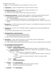 Business Law Practice Test Questions - Answers test 1 1 B 2
