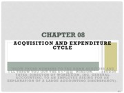 Chapter 8- Acquisition and Expenditure Cycle