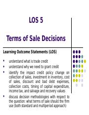 -LOS 5_Terms of Sale Decisions