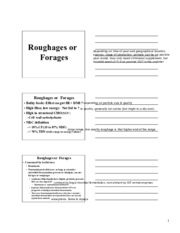 9. Forages and Roughages