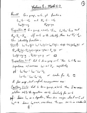 Subgroups, isomorphisms, and Cayley's Theorem Lecture