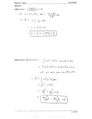 Math 101 derivative test
