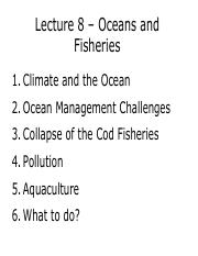 ES 2EI3 - Lecture 8 - Oceans and Fisheries - A2L