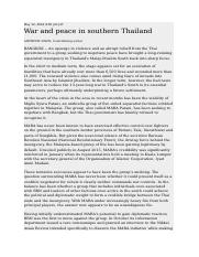War and peace in southern Thailand.docx