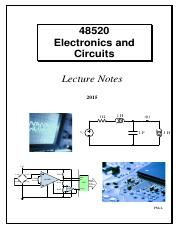 48520 Electronics and Circuits - Lecture Notes.pdf