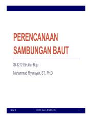 Set 08 - Perencanaan Sambungan Baut - SNI 1729-2015 (REVISI REDUCED ECCENTRICITY)
