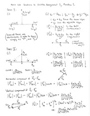 PHYS 102 Fall 2014 Written Assignment 1 Problem 1 Solutions