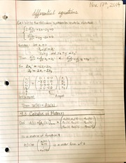 Calculus of matrices
