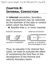 Lecture 8: Internal Convection