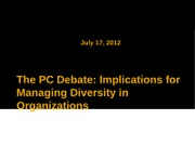 Lecture 15- Debate over political correctness