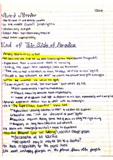 This Side of Paradise Part 3 Class Notes