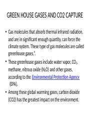 11 green house gas emmisions