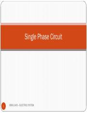 Single Phase Circuit
