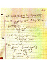 2.3 product and quotient rules; higher order derivatives rules
