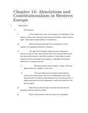Absolutism and Constitutionalism in Western Europe.docx