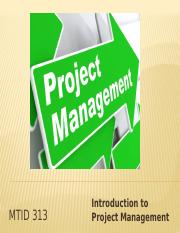 Week 1 Introduction to Project Management.pptx