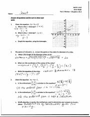 Test 1 Review Solutions