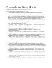Criminal Law Ch12 Study Guide
