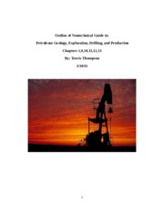 Outline for DS Petroleum Geology