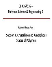 Polymer Physics Section 4