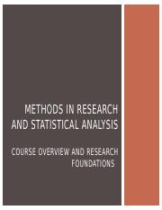 Week One - Methods of Research and Statistical Analysis copy.pptx
