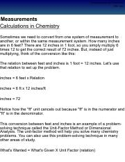 Calculations in Chemistry Pg 4