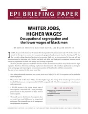 Whiter jobs, higher wages Occupational segregation and the lower wages of black men