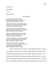 Poetry explication essay