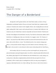 The Danger of a Borderland