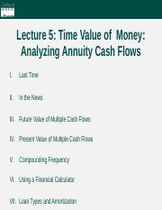 Lecture 5 - Time Value of Money (part 2)