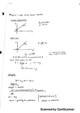PHY2053L Physics 1 Lab (Algebra), Final Exam Review Study Guide