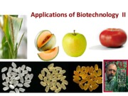 Lecture  25 Biotechnology Applications II S