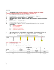 Contingency Formulas Notes