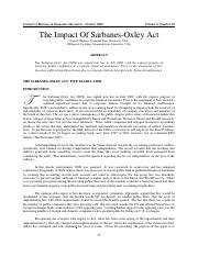 The Impact of SOX Act.pdf