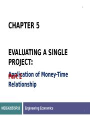Chapter 5 Evaluating a Single Project___.ppt