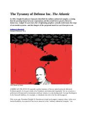 DDE Military Industrial Complex Tyranny of Defense Inc Atlantic Jan 2011.docx