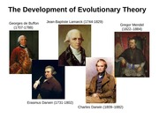 Evolution and Early Development Lecture Slides